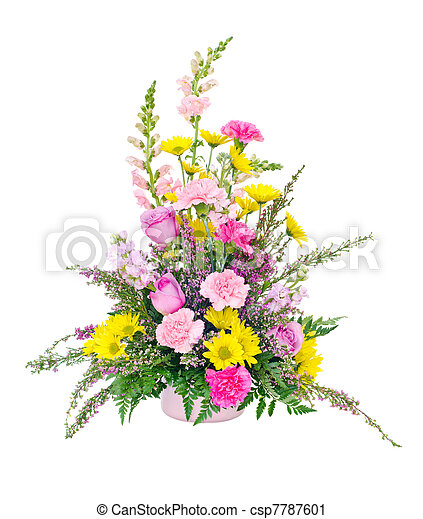 Colorful fresh flower arrangement - csp7787601