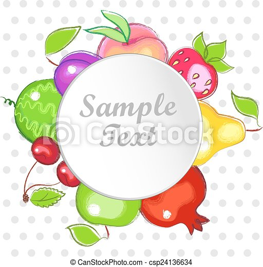 colorful fruit - csp24136634