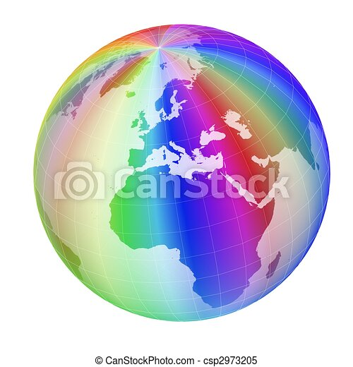 colorful globe frame - csp2973205