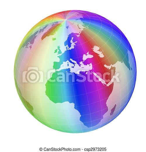 colorful globe frame - csp2973205