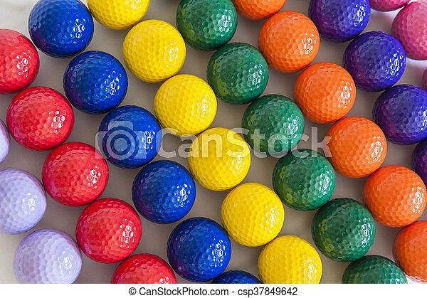 Colorful Golf Balls - csp37849642