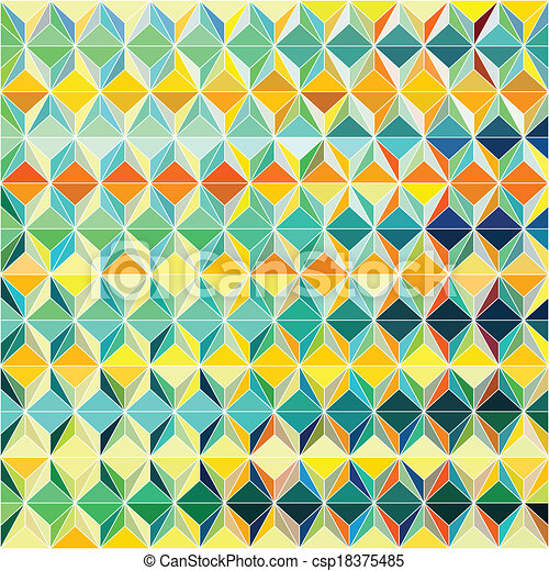 Colorful Grid Pattern - csp18375485