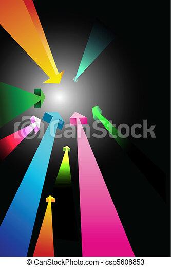 colorful growing arrows - csp5608853