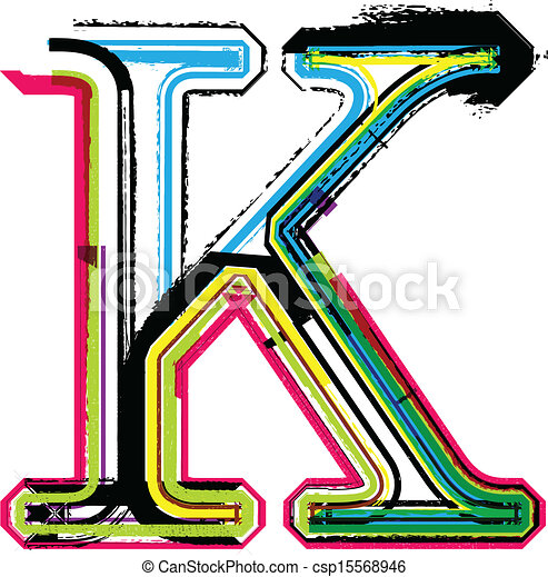 colorful grunge letter k eps vector search clip art illustration rh canstockphoto co uk letter k clipart pictures letter k clipart black and white