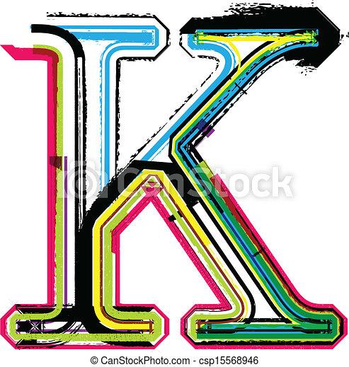 colorful grunge letter k eps vector search clip art illustration rh canstockphoto co uk letter c clipart letter k clipart pictures
