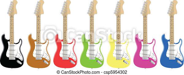 colorful guitars - csp5954302