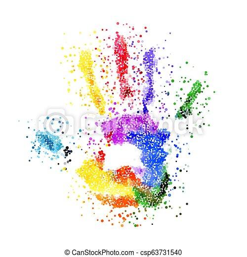 Colorful Handprint - csp63731540