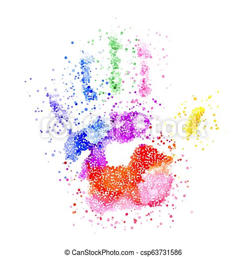 Colorful Handprint - csp63731586