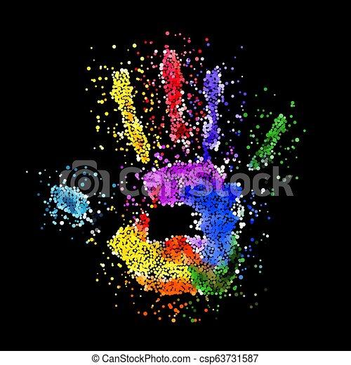 Colorful Handprint - csp63731587
