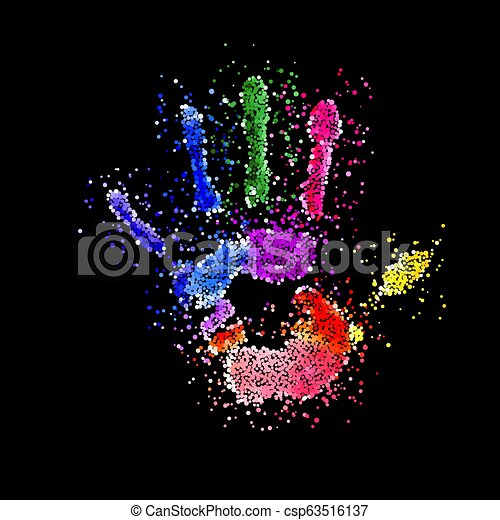 Colorful Handprint - csp63516137