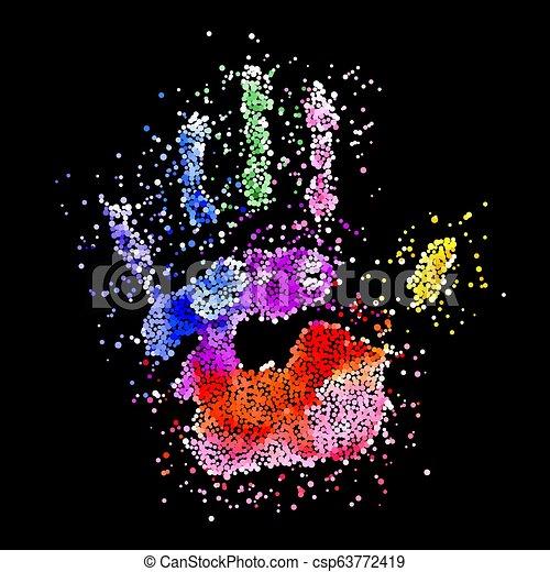 Colorful Handprint - csp63772419