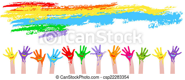 colorful hands - csp22283354