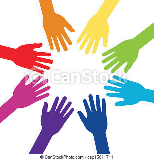 colorful hands forming shape teamwork vector clip art search rh canstockphoto com teamwork clip art funny teamwork clip art funny