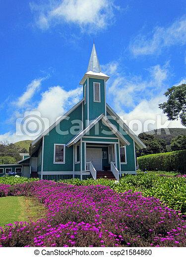 colorful hawaiian church    - csp21584860