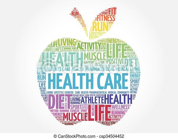 Colorful Health care apple - csp34504452