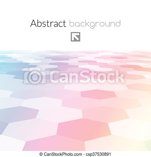 Colorful Hex Grid Background Texture Vector Illustration Colorful
