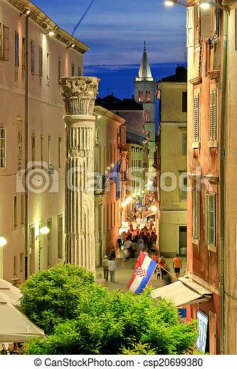 Colorful historic street of Zadar - csp20699380