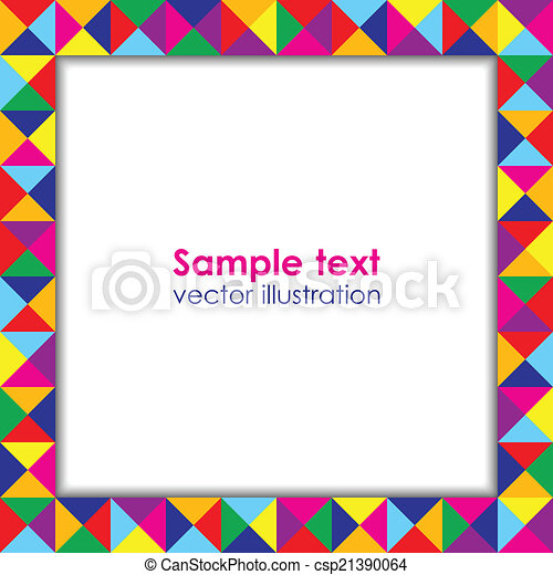 Colorful holiday frame. - csp21390064