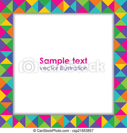 Colorful holiday frame. - csp21653857