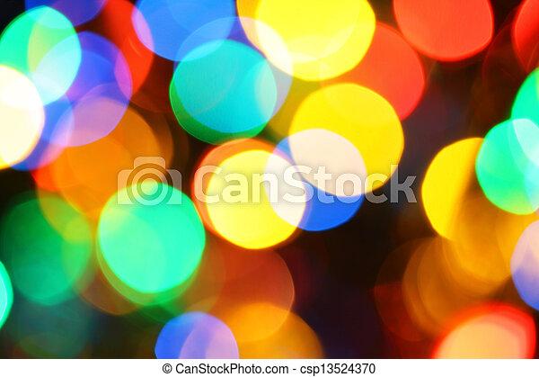 Colorful holiday illumination - csp13524370