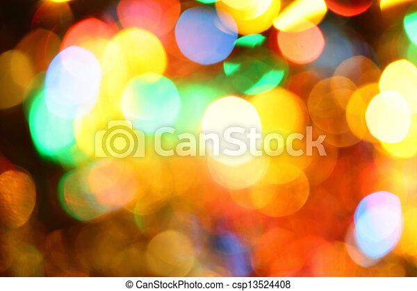 Colorful holiday illumination - csp13524408