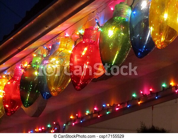 colorful holiday lights - csp17155529