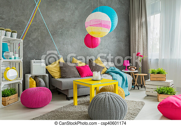 Colorful home decor idea - csp40601174