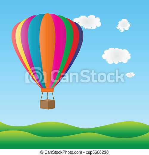 Colorful hot air balloon - csp5668238