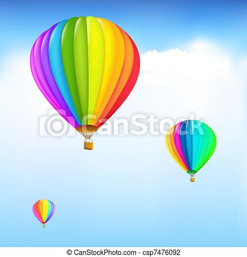 Colorful Hot Air Balloons - csp7476092