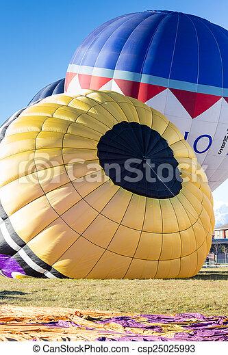 colorful hot air balloons - csp25025993