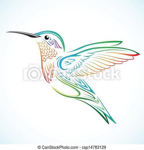 Colorful hummingbird - csp14783129