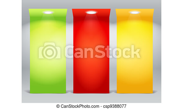 Colorful illuminated boards - csp9388077