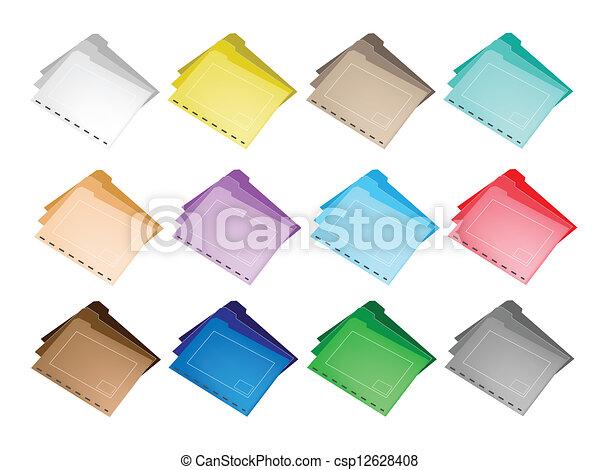 Colorful Illustration Set of The Folder Icons - csp12628408