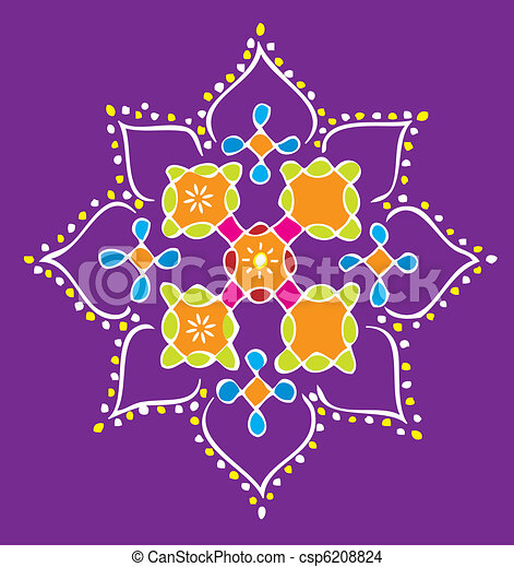 Colorful Indian icon - csp6208824