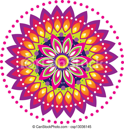 Colorful Indian pattern - csp13036145