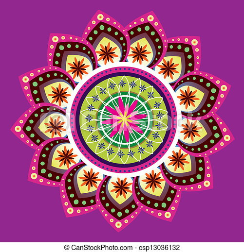 colorful indian pattern traditional culture art pattern