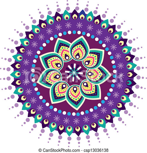 Colorful Indian pattern - csp13036138