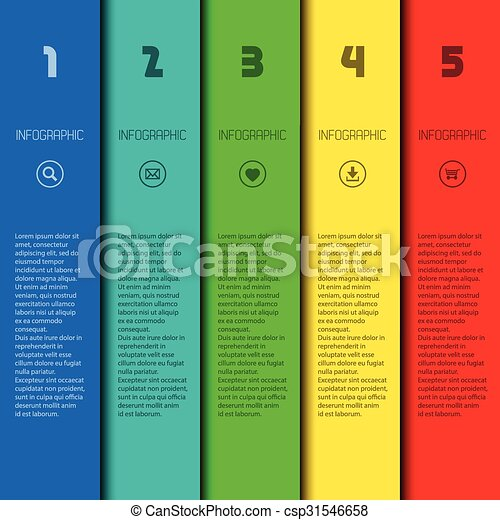 Colorful infographic template with place for your content, web design, banners, applications, elements - csp31546658