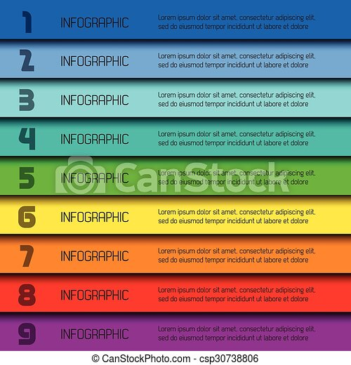 Colorful infographic template with place for your content - csp30738806