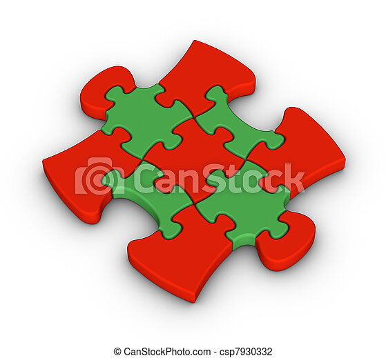 colorful jigsaw piece - csp7930332