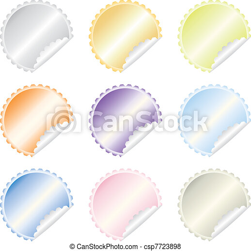 colorful  labels vector set - csp7723898