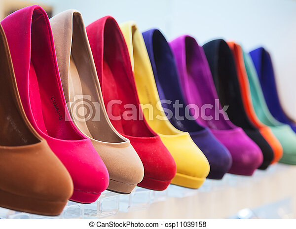 colorful leather shoes - csp11039158