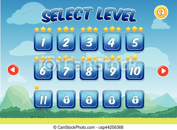 Colorful Level Selection Screen - csp44256368
