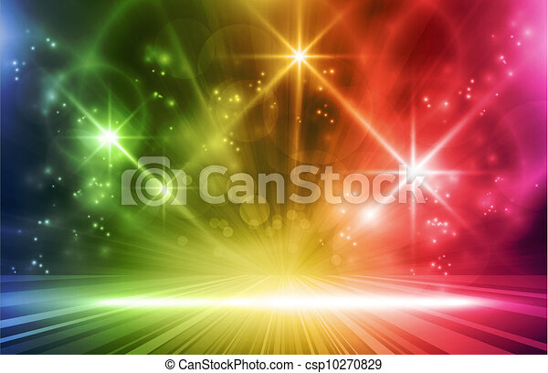 Colorful  light effects background - csp10270829