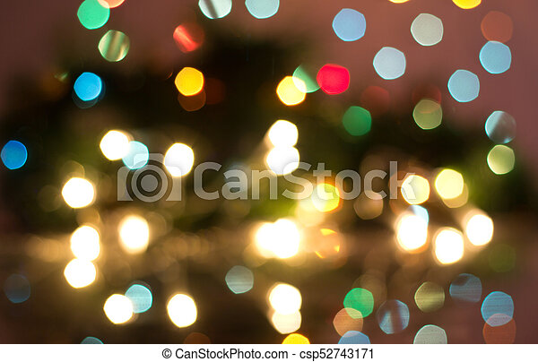 colorful lights blurred in background csp52743171