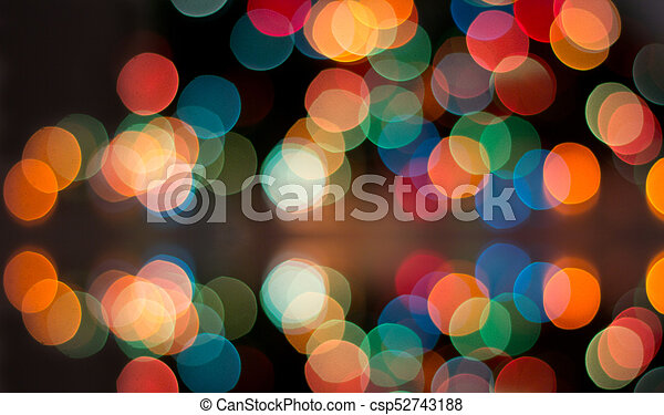 colorful lights blurred in background csp52743188
