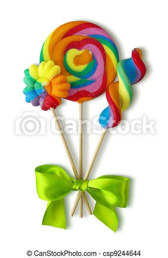 Colorful lollipops - csp9244644