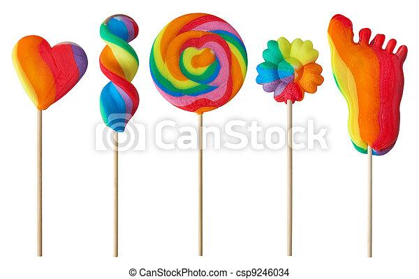 Colorful lollipops  - csp9246034