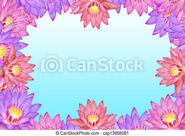 Colorful lotus flowers with text area stock illustration search colorful lotus flowers csp13956081 mightylinksfo Images