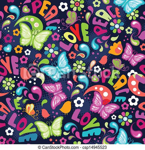Colorful love butterflies - csp14945523